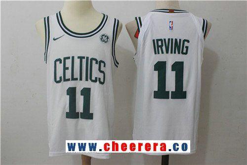 d2a302bfb Men s Boston Celtics  11 Kyrie Irving White 2017-2018 Nike Swingman  Stitched NBA Jersey