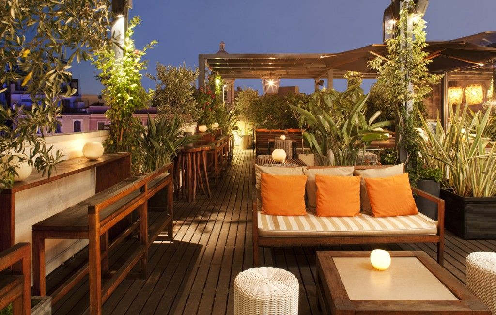 Europe S Best Boutique Hotels For Under 250 Per Night Rooftop Design Hotel Pulitzer Barcelona Rooftop Restaurant