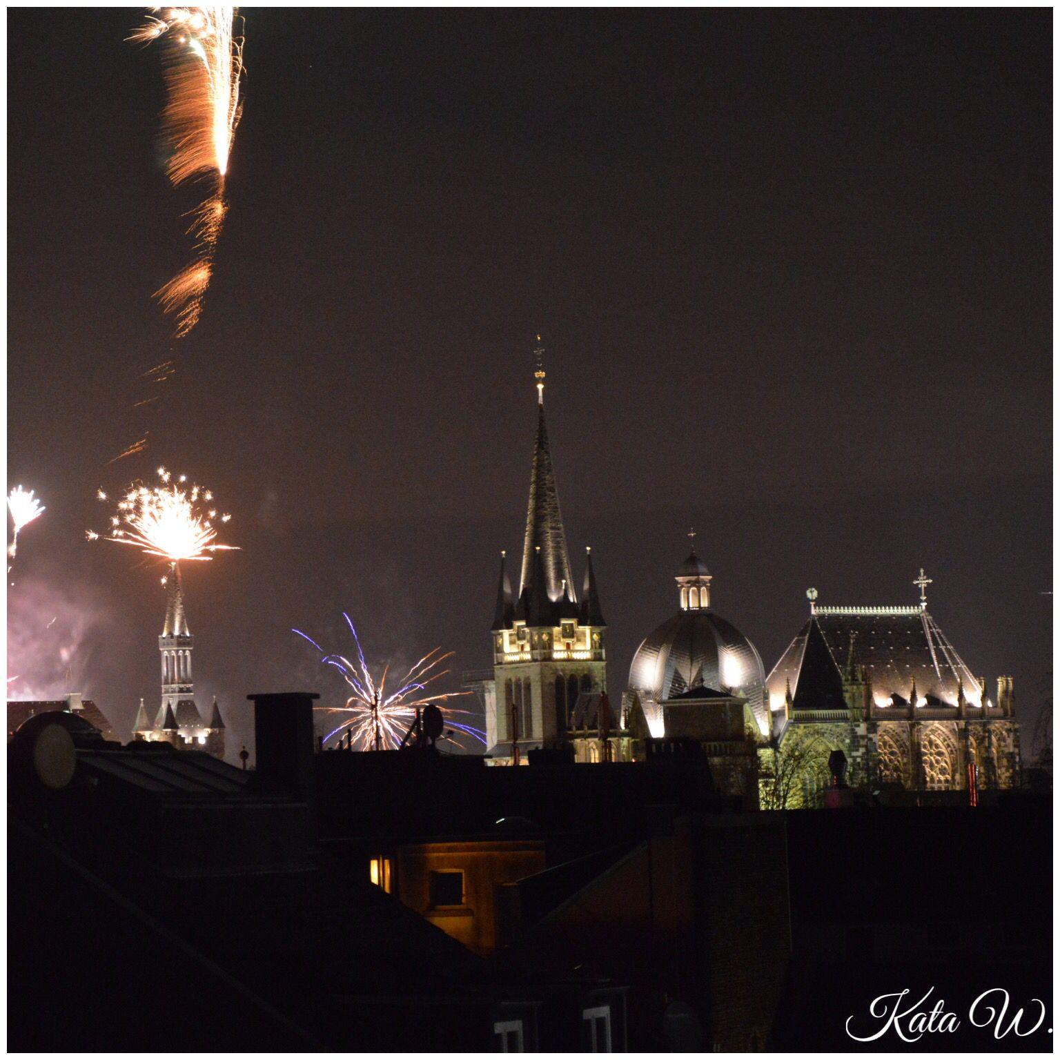 Aachen Silvester Feuerwerk