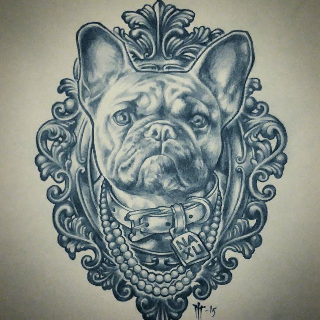 Ilari Musta Helsinki Finland French Bulldog Tattoo Bulldog
