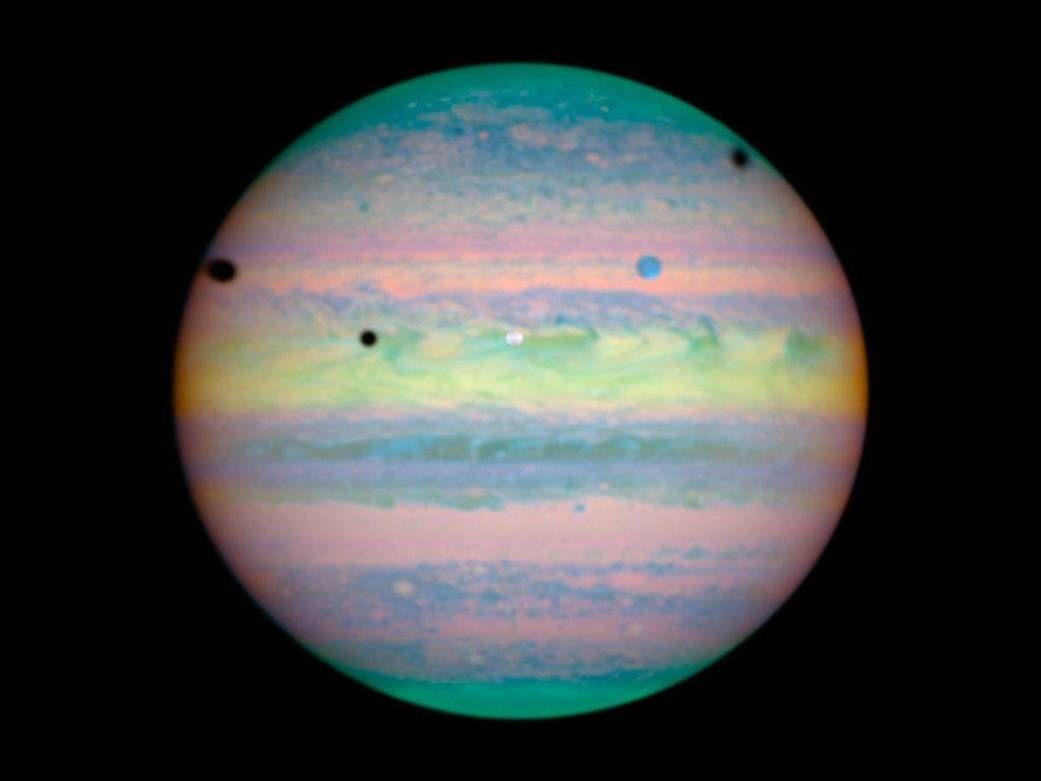 Rare Triple Eclipse on Jupiter