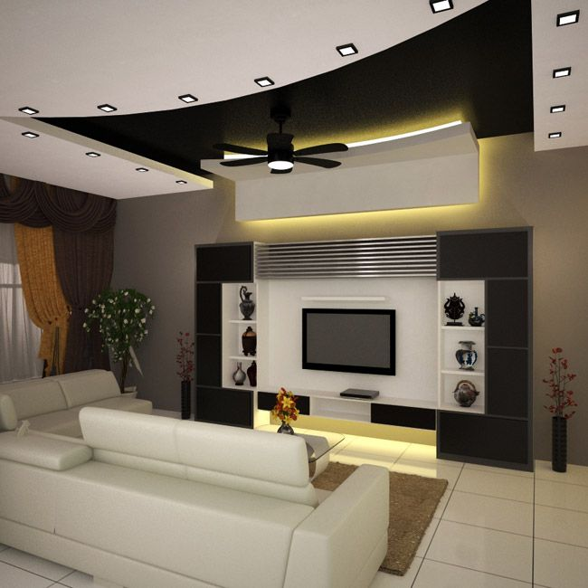 Modern Interior Decoration Living Rooms Ceiling Designs Ideas: Tv Unit Design, Tv Cabinet Design, TV Unit