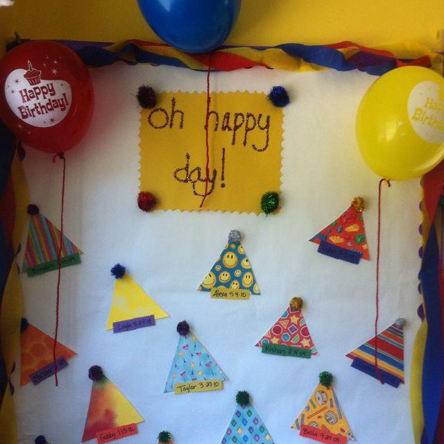 Birthday Bulletin Board!! Loooove It!!