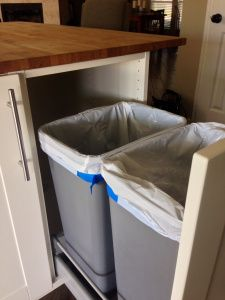 Ikea Hack Larger Trash Can Pull Out Kitchen Ikea Hack Kitchen