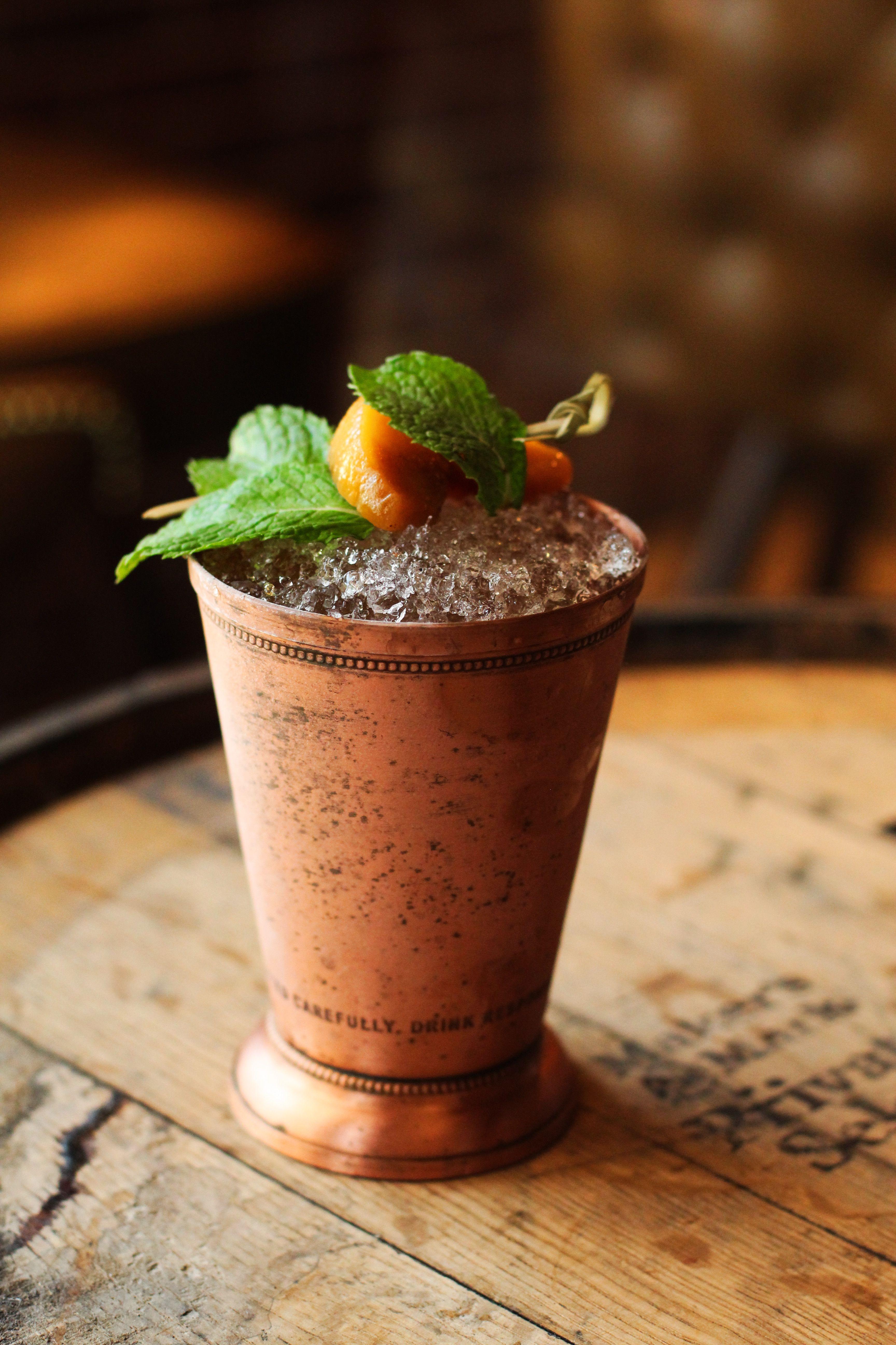 Peach Mint Julep - Made with Makers Mark #bourbon #julep # ...