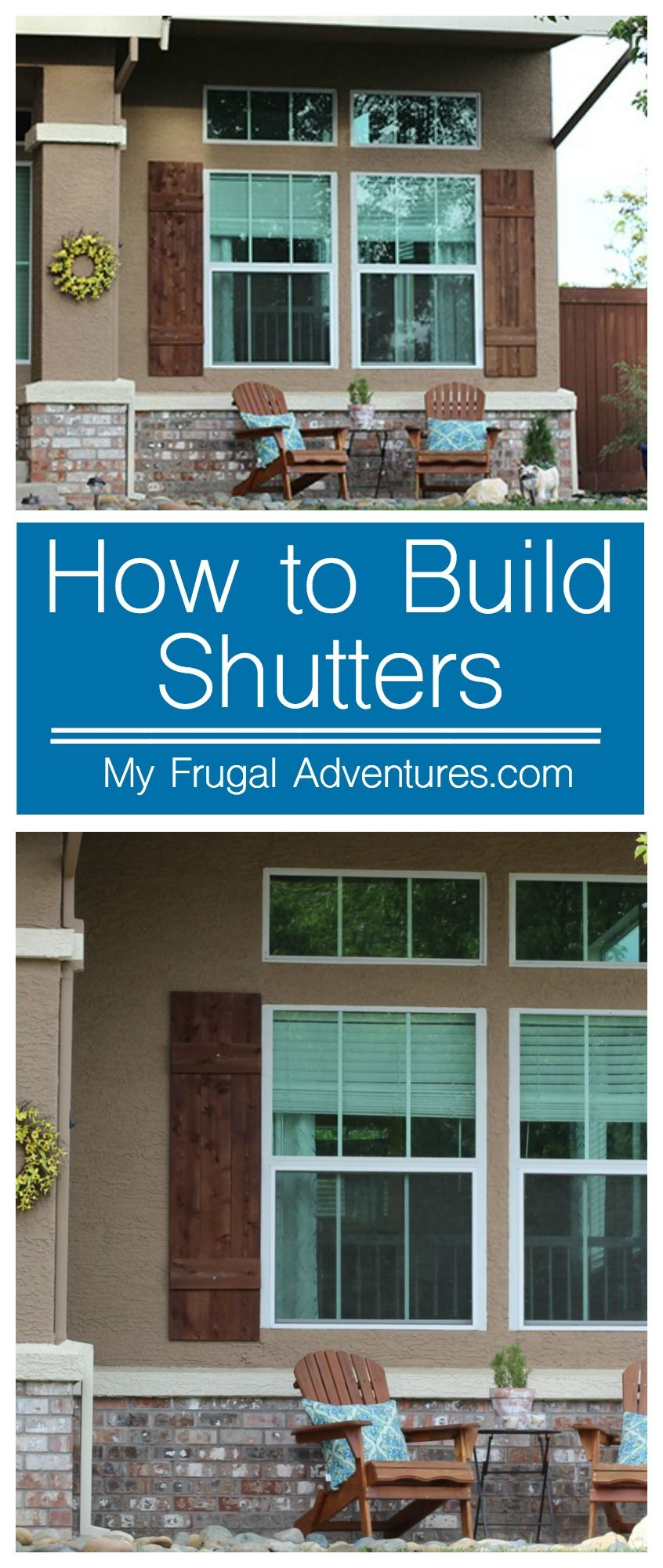 Exterior window trim design ideas  how to build outdoor shutters  outdoor shutters simple diy and