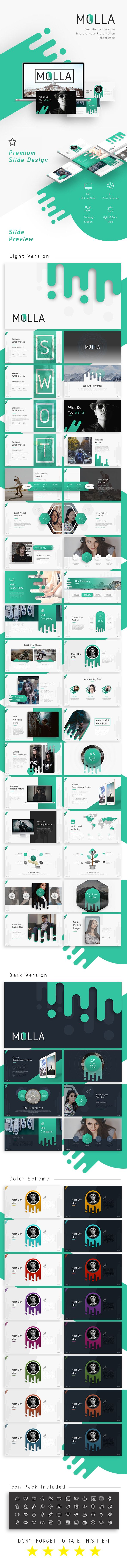 molla #presentation template - creative #powerpoint templates, Presentation templates