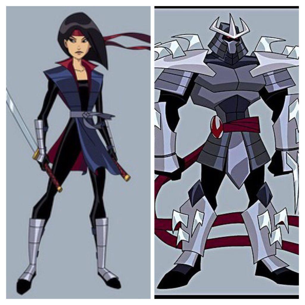 How Much Karai Looks Like Shredder In Back To The Sewers Tmnt