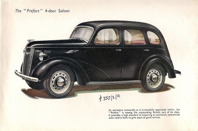 Late 1940s Ford Publicity Brochure For The Ford E93a Prefect