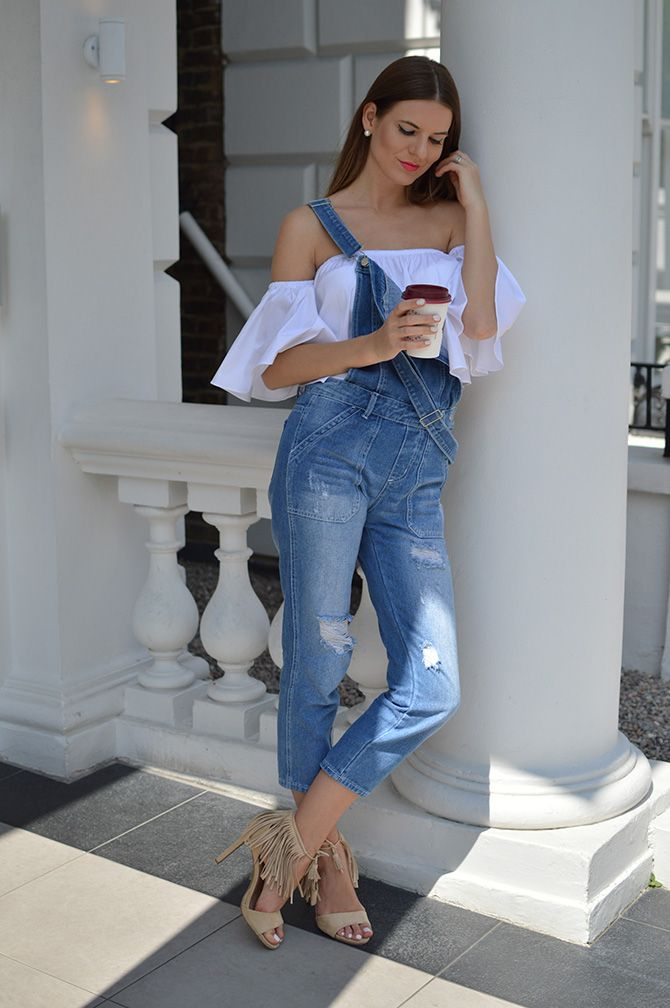 4574644bd6763 denim-dungarees-zara-off-shoulder-crop-top-fringe-heels-fashion-blogger- london-streetstyle