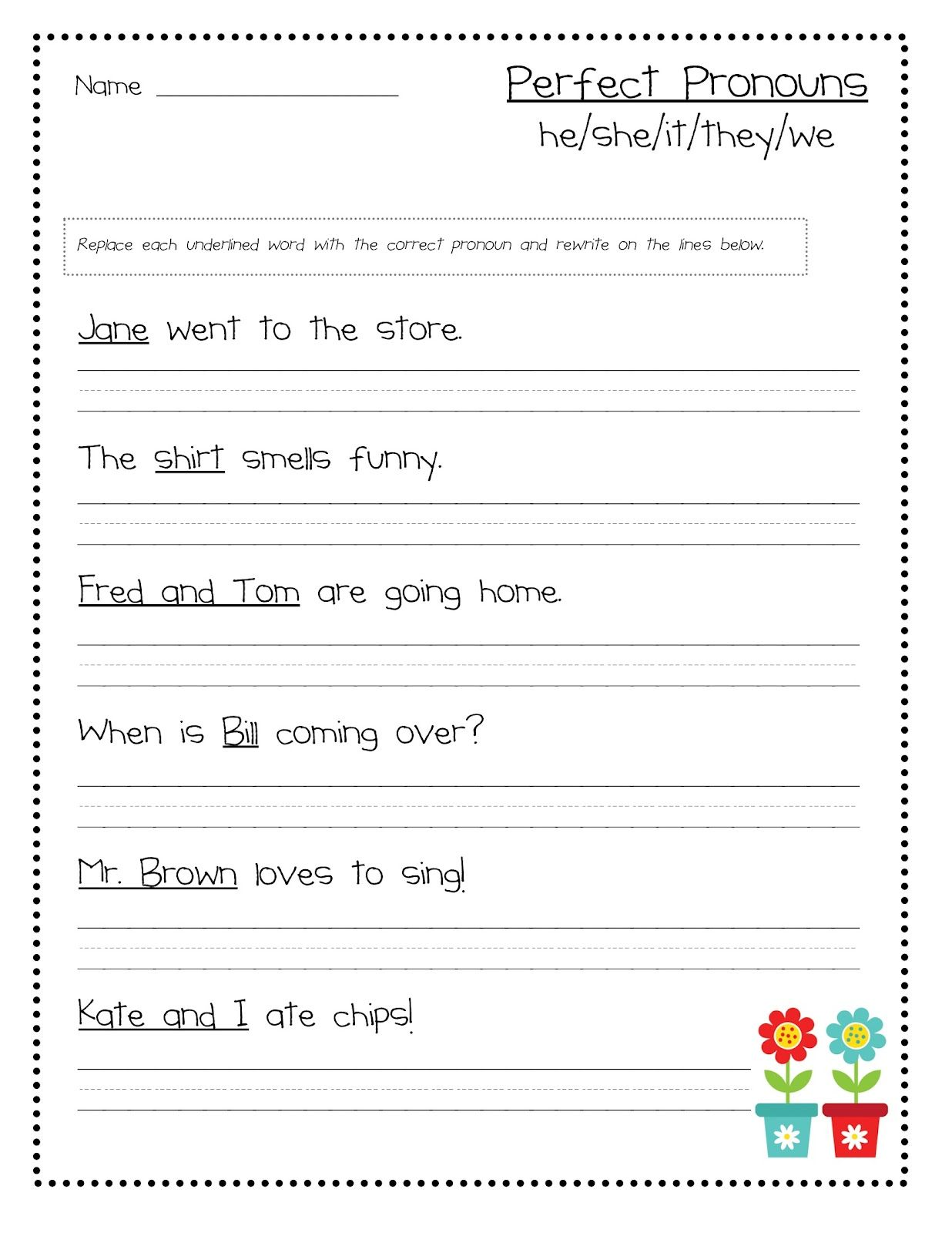 Nouns Worksheet 4th Graders Homework