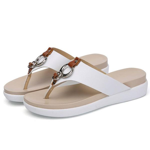fdc004c9e07a US Size 5-12 Beach Slipper Casual Summer Outdoor Leather Sandals ...