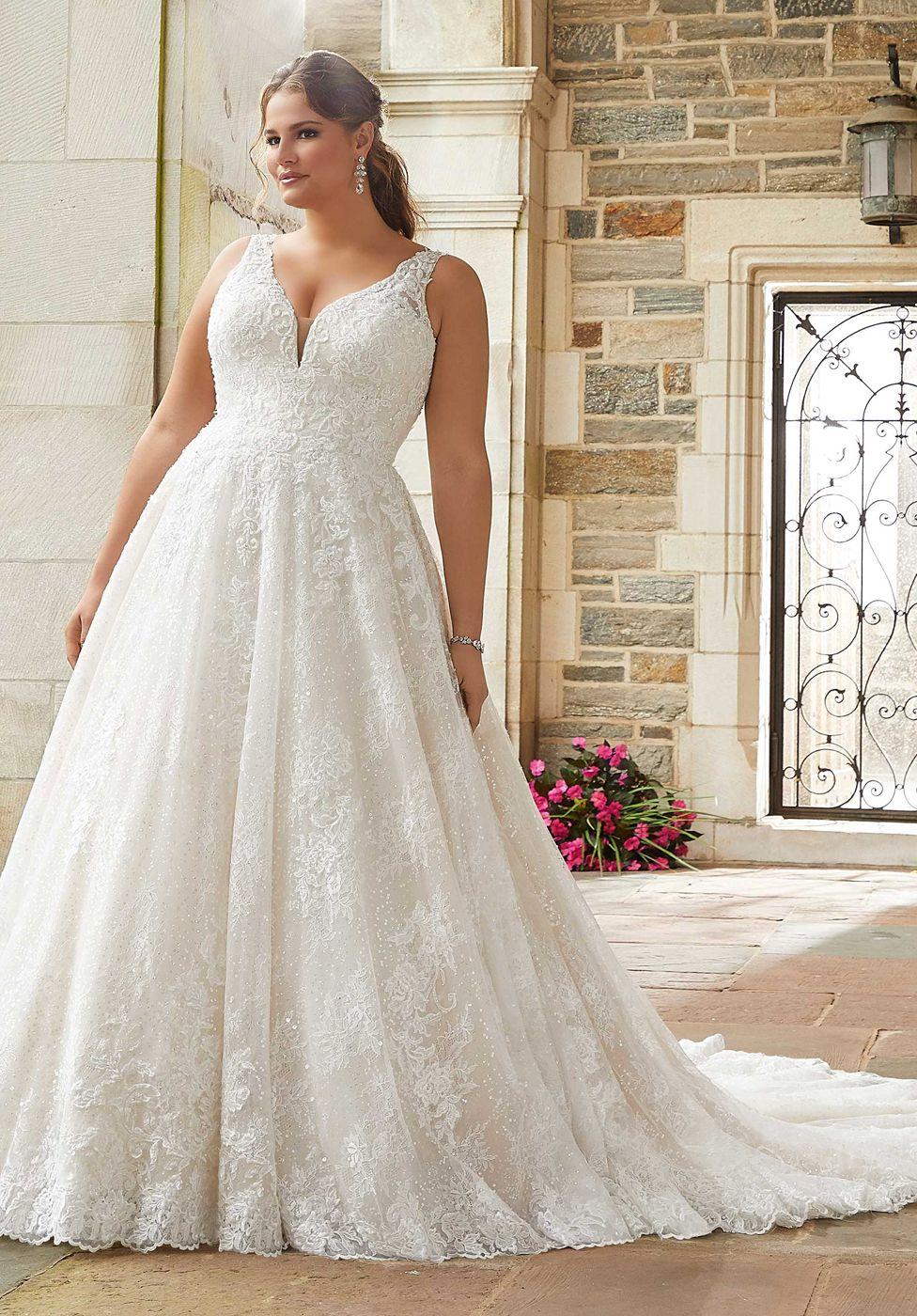 Mori Lee 3290 Selene Lace Up Back Plus Size Bridal Gown Plus Size Wedding Gowns Wedding Dress Inspiration Ball Gown Wedding Dress [ 1400 x 976 Pixel ]
