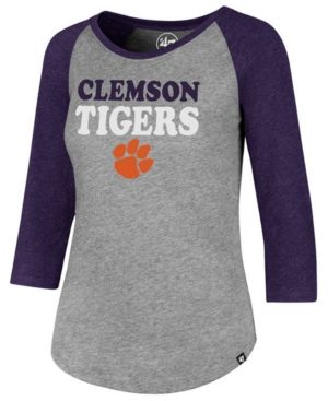 2de02322d71ecb 47 Brand Women's Clemson Tigers Club Raglan T-Shirt - Gray L | Products