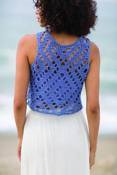 Top-Cropped com Flor em crochê - Scarfs Crochet #filetcrochet
