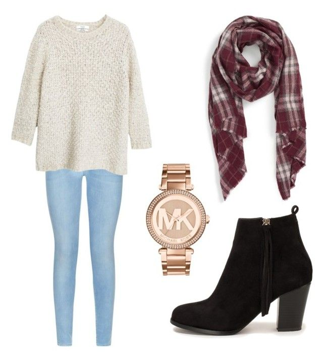"""Untitled #1"" by tracy-phan ❤ liked on Polyvore featuring 7 For All Mankind, MANGO, Sole Society, Michael Kors and Nly Shoes"