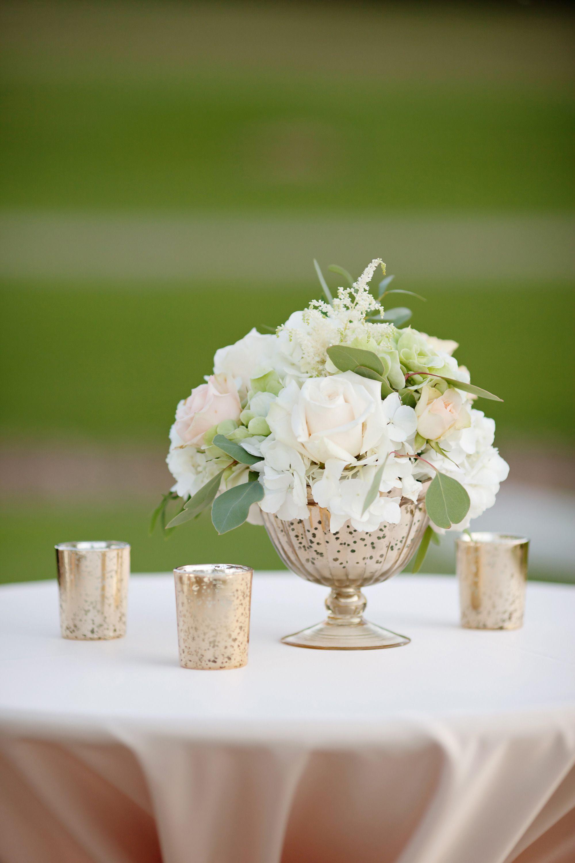 Blush & Gold Orchard Wedding | Flower centerpieces wedding ...