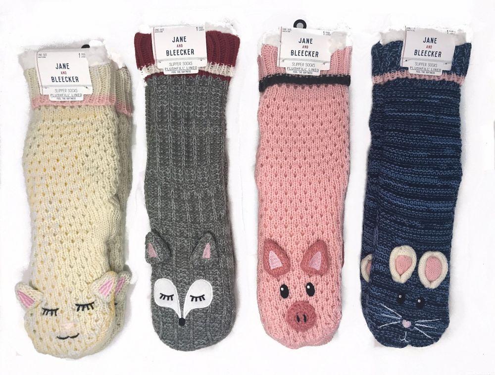 88a1221caa6 NWT Jane and Bleecker ASSORTED Critter Slipper Socks ~ Lamb