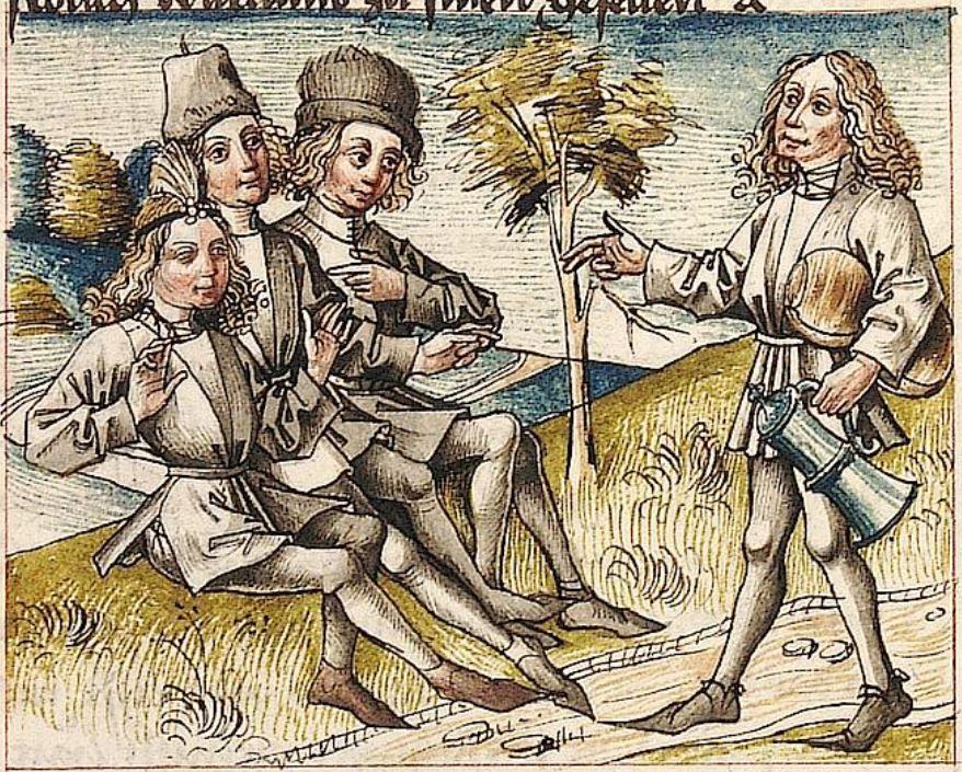 Cod Pal Germ 84 Antonius Von Pforr Antonius Von Pforr Buch Der Beispiele Passionsgebet Schwaben Um 1475 1482 Folio 218r Gebet Heidelberg Schwaben