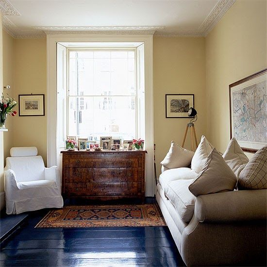 Painted Floor Love The Navy Blue Wooden FloorsLiving Room