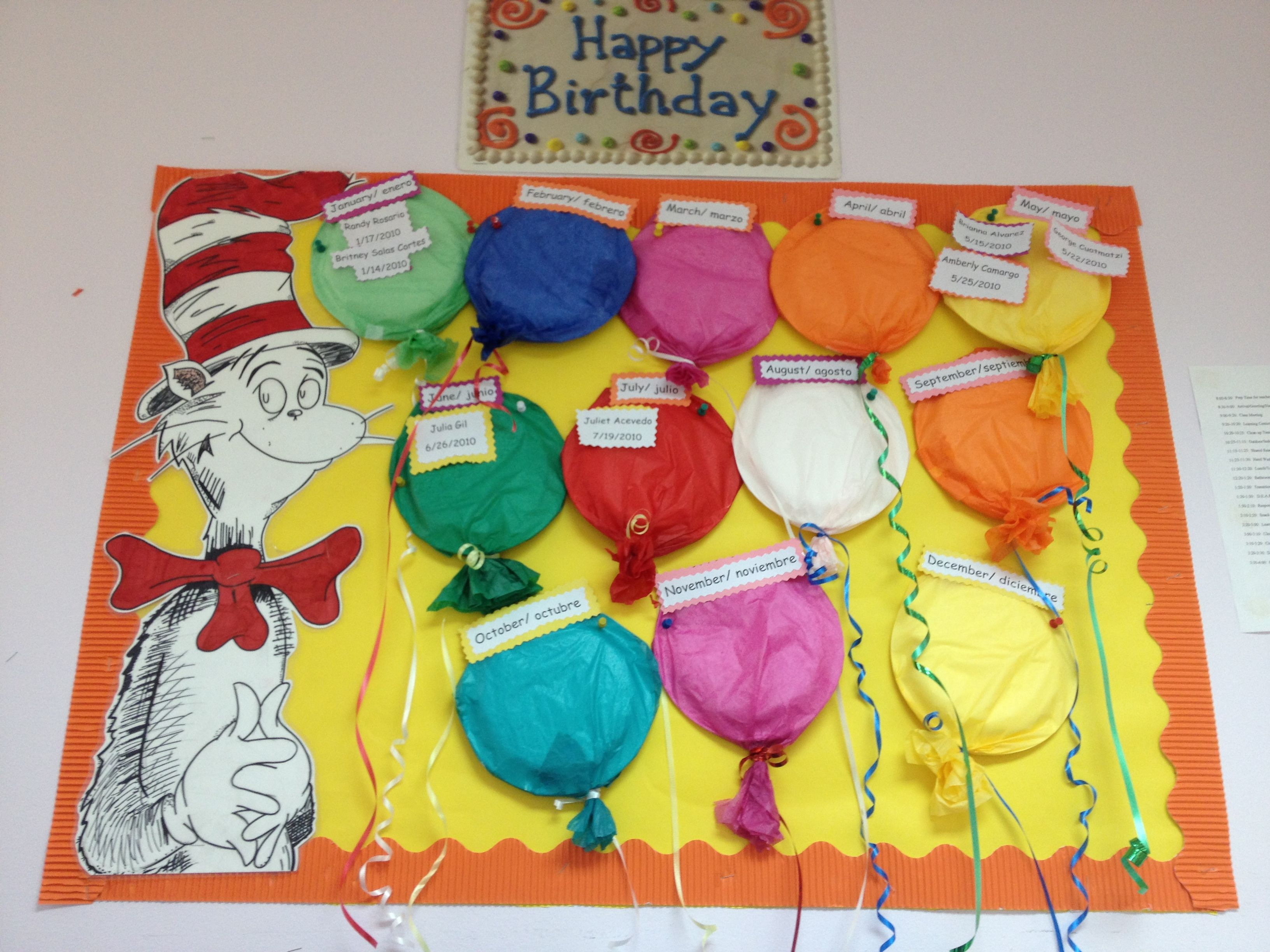 Happy Bday Bulletin Board With Images