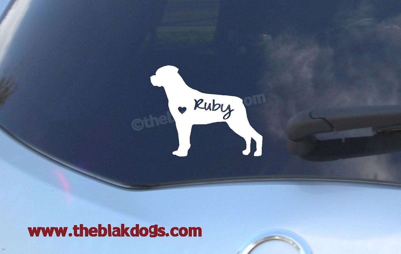 "5.75/"" I LOVE MY ROTTWEILER vinyl decal sticker.. Dog"