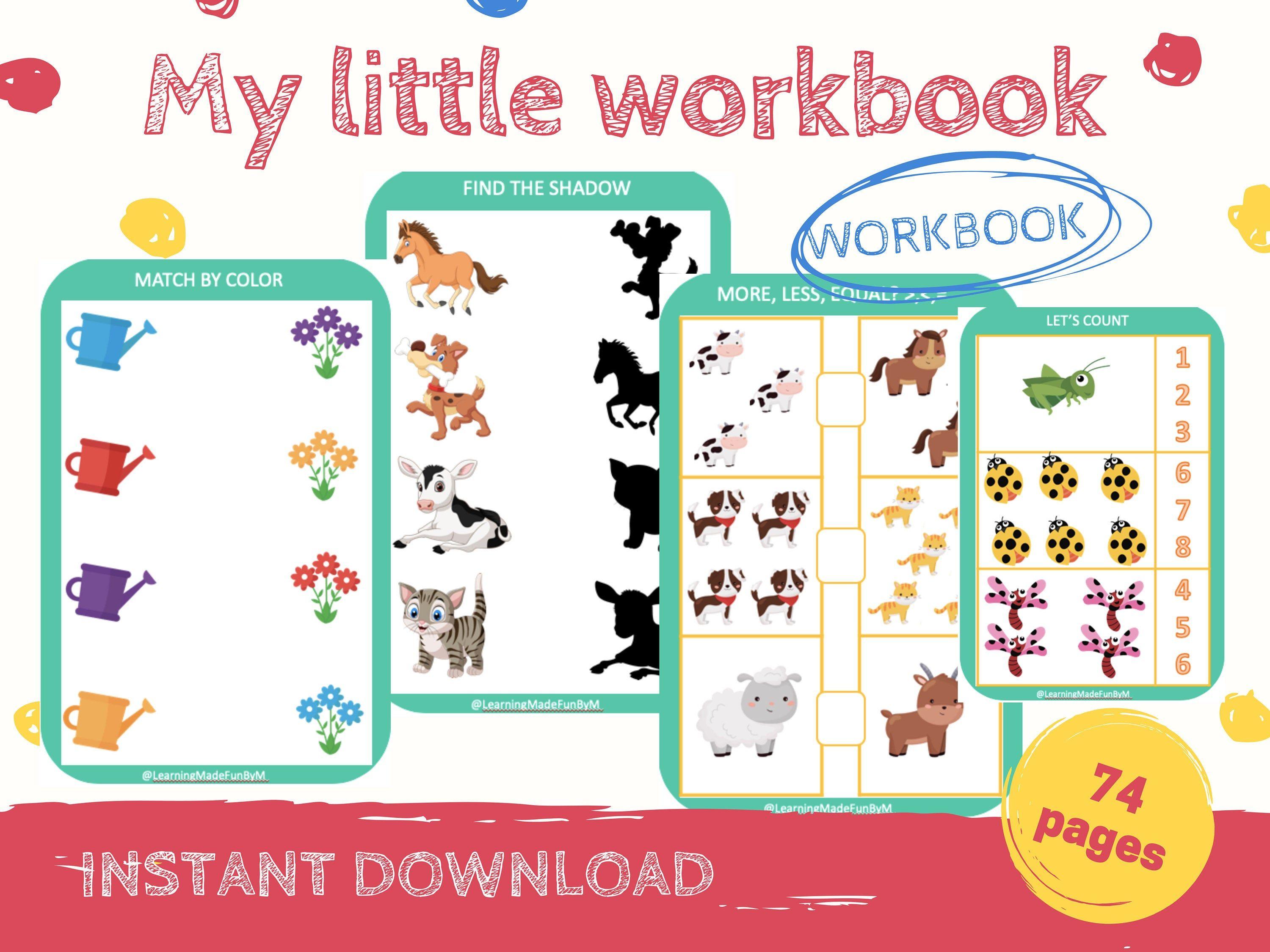 Workbook For Kids Busy Book Busy Book Toddler Busy Book
