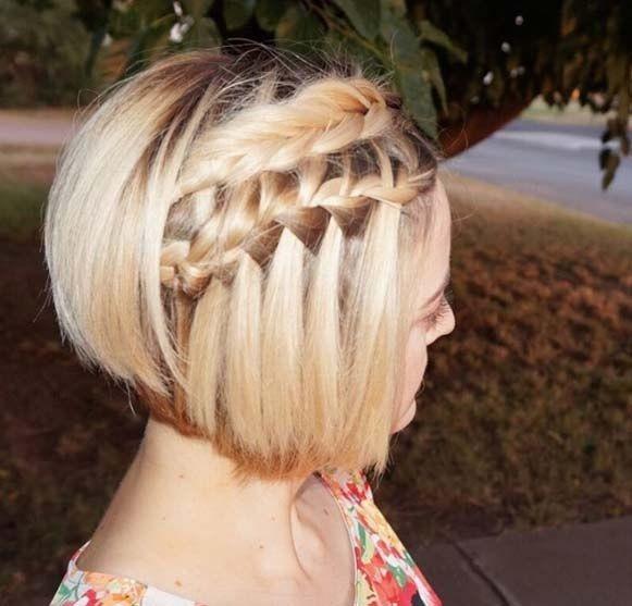 50 Facons Pour Tresser Vos Cheveux Courts Hair Styles Braids For Short Hair Short Hair Styles