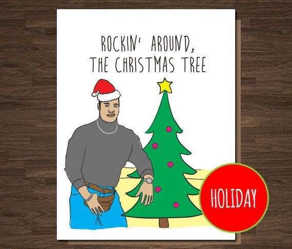 Funny christmas card the rock rockin around the christmas tree co funny christmas card the rock rockin around the christmas tree co worker card m4hsunfo