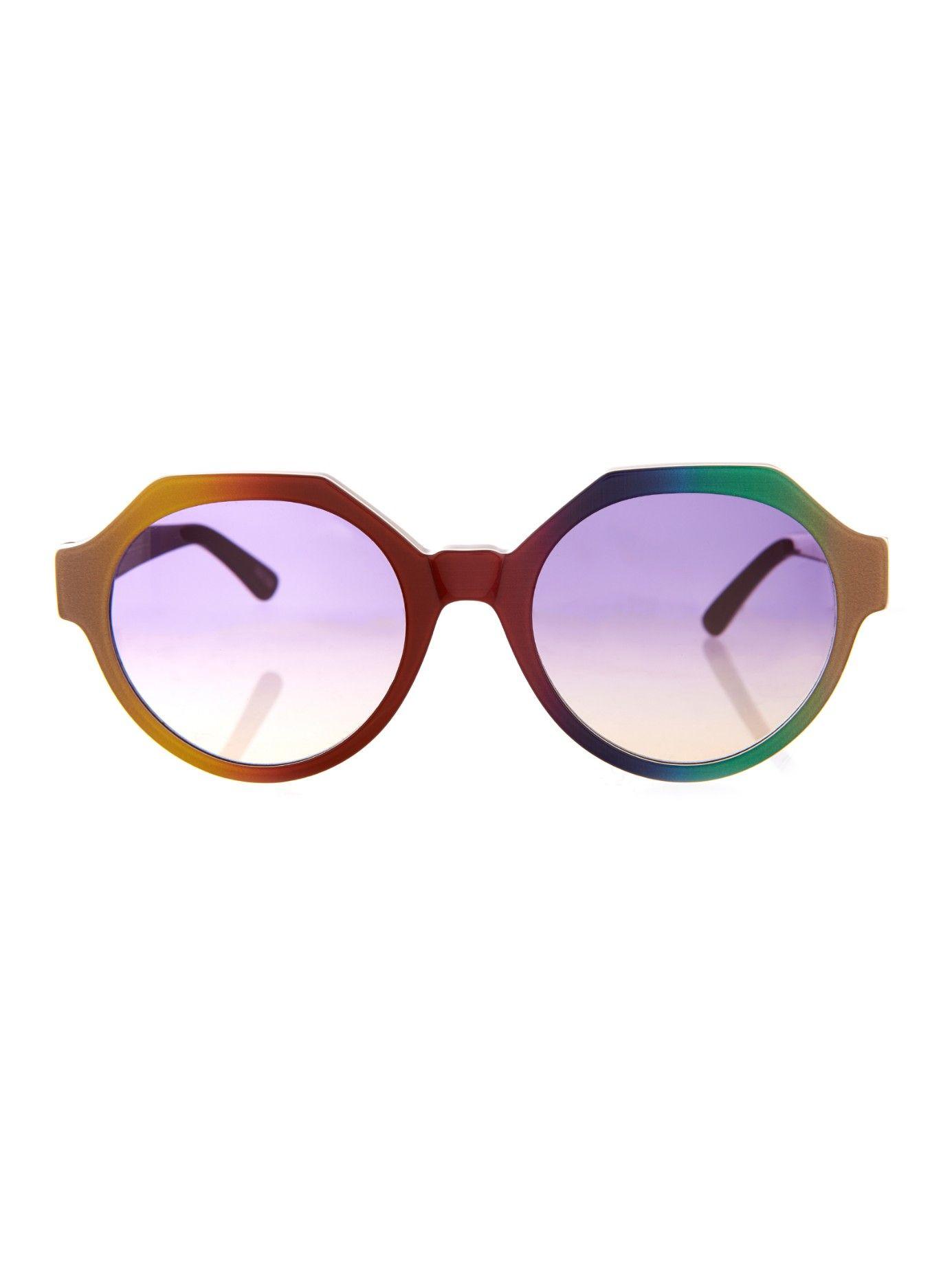 Rainbow geometric-frame sunglasses | Marco De Vincenzo ...