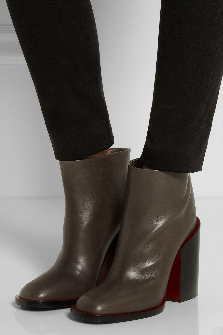 Women's Velvet Lining Pull On Chunky Heel Ankle Boots