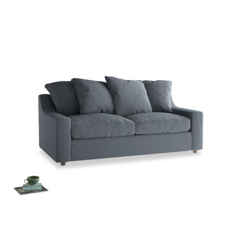 Seriously Comfy Sofa Bed Cloud In Blue Storm Washed Cotton Linen Sofas Loaf