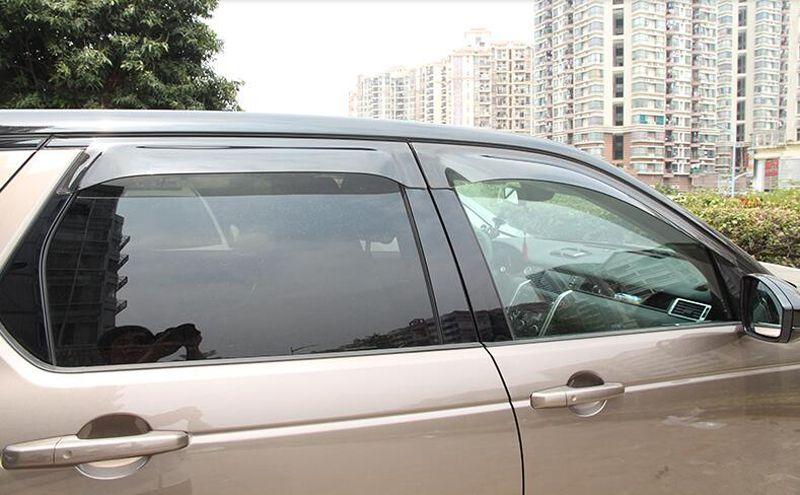 4pcs Visor Vent Shades Window Sun Rain Guard Deflector For