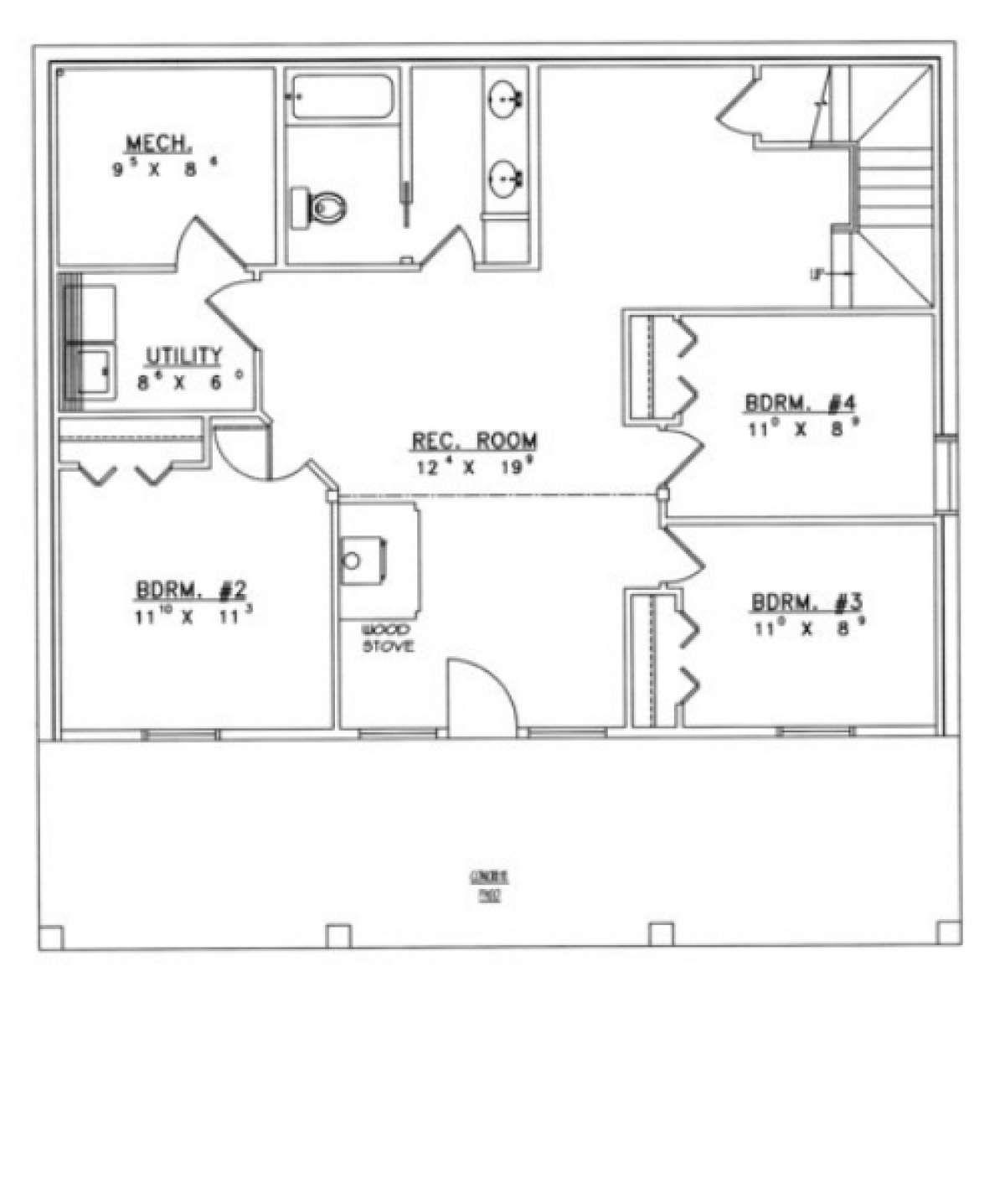 House Plan 039 00278 Narrow Lot Plan 2 338 Square Feet 4 Bedrooms 2 5 Bathrooms In 2020 House Plans Basement House Plans Best House Plans