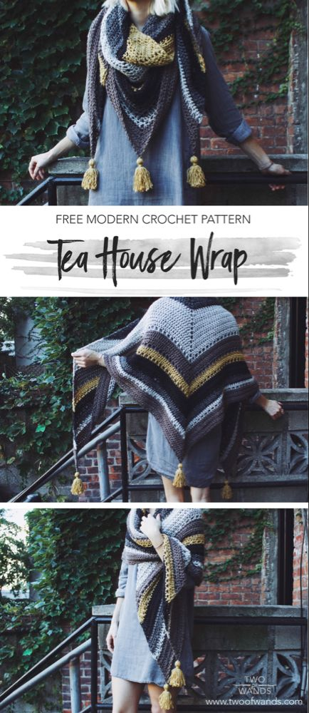 Tea House Wrap — Two of Wands