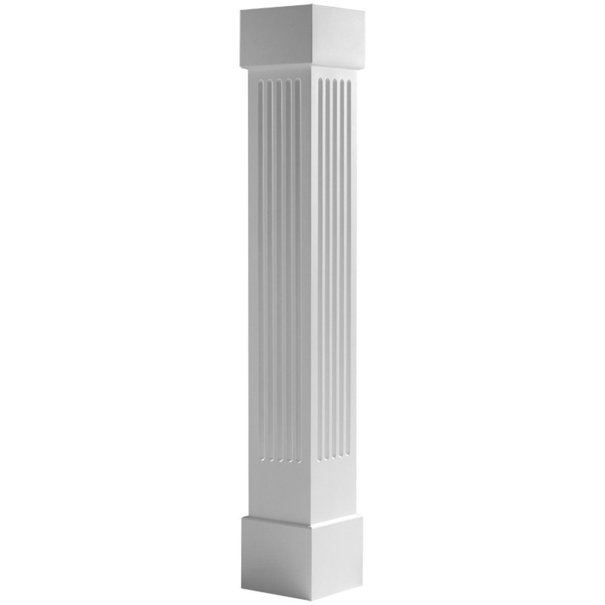 Craftsman Classic Square Non Tapered Fluted Column W Standard Capital Base Craftsman Columns Millwork Fluted Columns