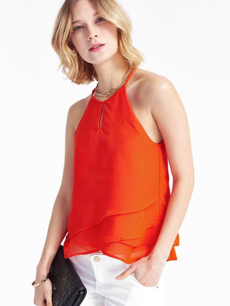Adorewe justfashionnow haoyouduodesigner womens orange tiered