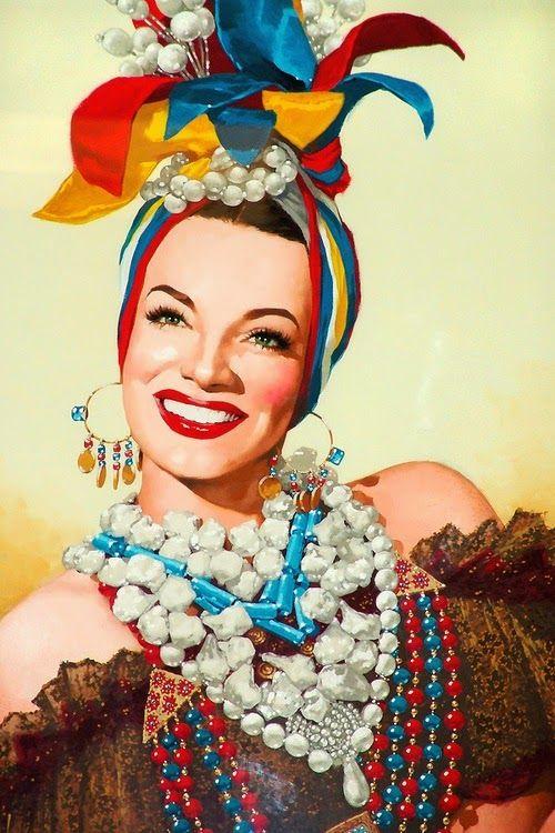Carmen Miranda Vintage Blog Frida Style Pinterest Carmen