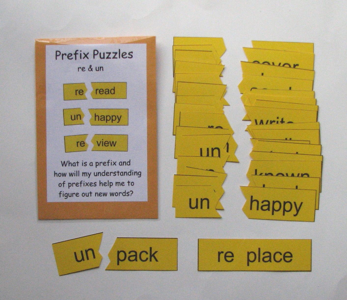 Prefix Puzzles Re Amp Un Students Can Practice And