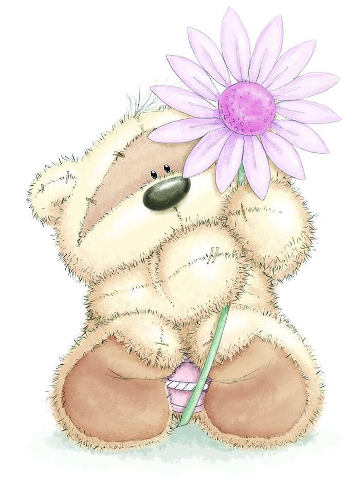 открытки красивые с медвежонком расположен