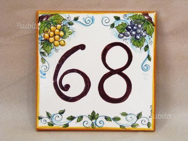 Piastrella con numero civico mattonella in ceramica con numero