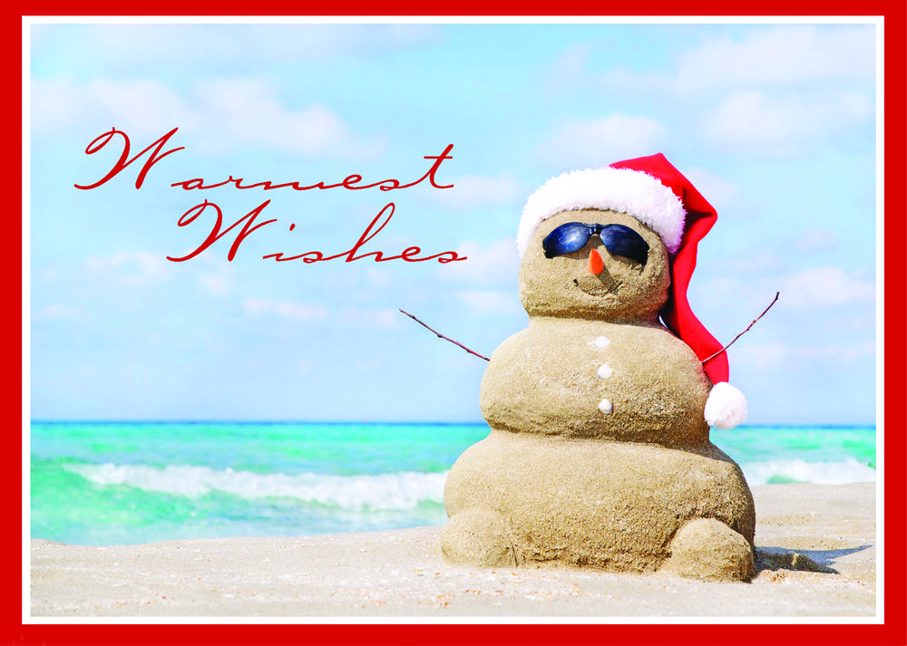 28 best Coastal Island Beach Christmas Cards and Tropical Holiday ...