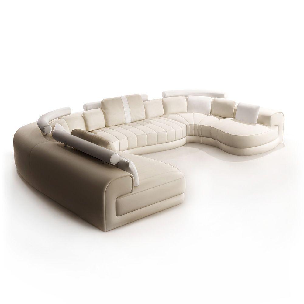 details zu ledersofa sofa couch couchgarnitur wohnlandschaft unique talento a polinova neu. Black Bedroom Furniture Sets. Home Design Ideas