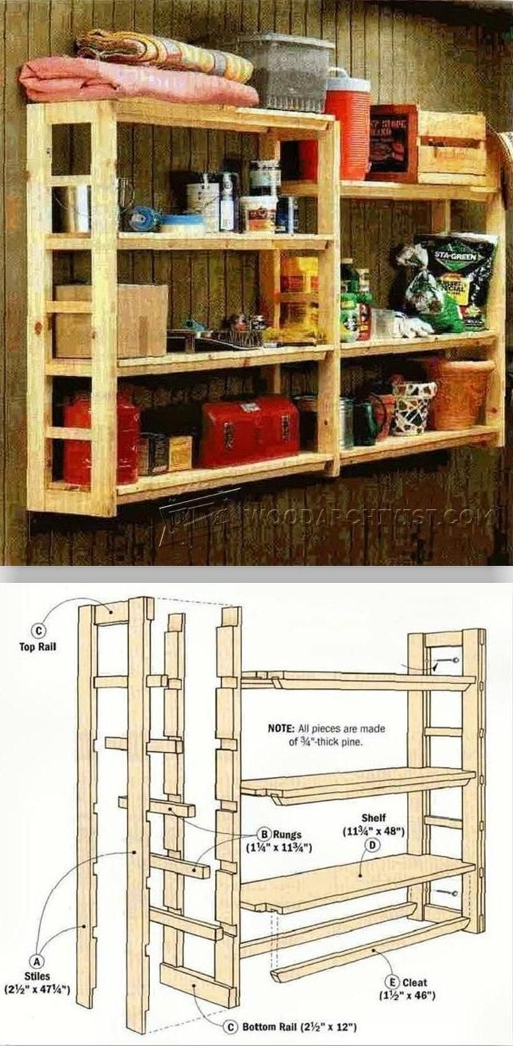 DIY Utility Shelf - Furniture Plans and Projects | WoodArchivist.com ...