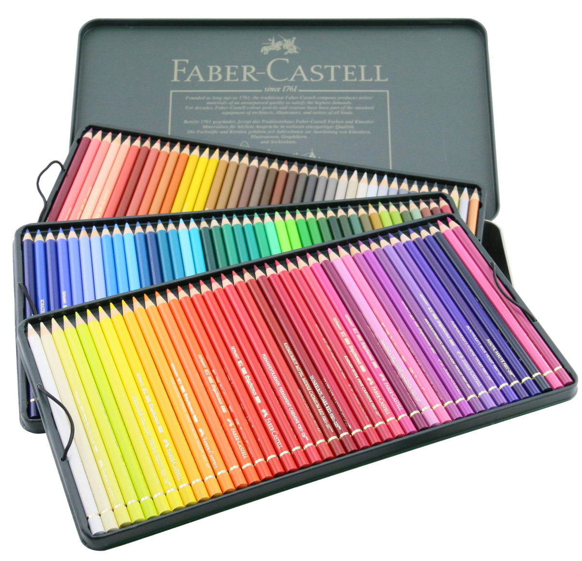 Faber Castell Polychromos 120 Pencil Metal Tin Set