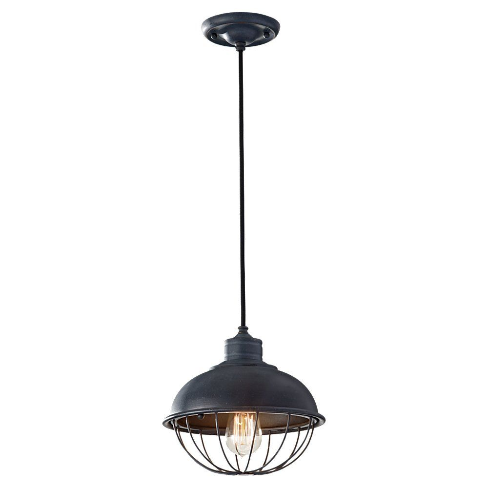 Rounded Iron Cage Bowl Pendant | Industrial Cage Ceiling Light $124 ...