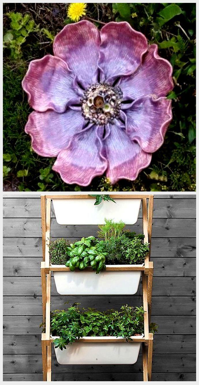 Modern und fröhlich gestaltete Dekors aus Keramik für den Garten. Frostfest ge...,  #aus #Dekors #den #fröhlich #Frostfest #für #Garten #gestaltete #Keramik #modern #und