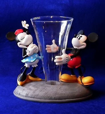 "Disney Mickey & Minnie Mouse Vase ""Because I Love You"" - Hallmark"