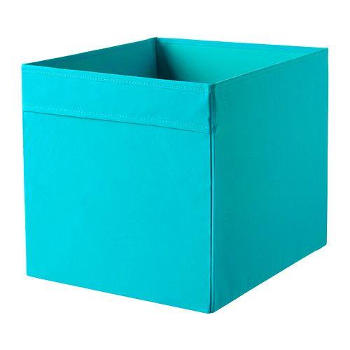 Ikea Drona Rangement Tissu Bleu Les Poignees Permettent De