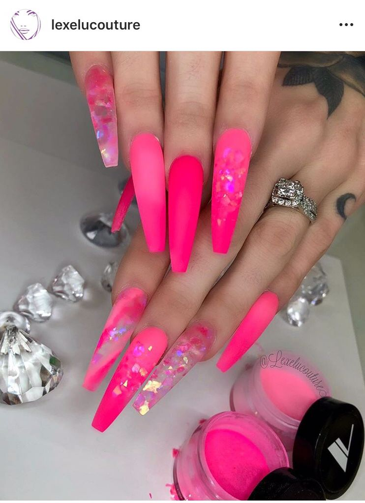 Pin By Brittanny On Nailed It Pink Acrylic Nails Long Acrylic